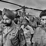 The Surrender: General Amir Abdullah Khan Niazi, the Commander of the vanquished Pakistani troops and the late Lt. General J.S. Aurora, Commander of the India-Bangladesh joint forces in the 1971 liberation war