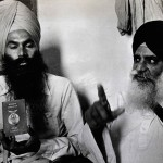 Self-styled general secretary of Khalistan, Balbir Singh Sandhu (right), with a supporter showing Khalistani passport
