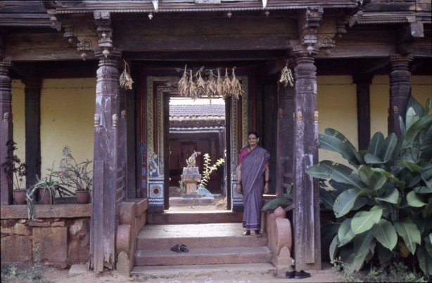 This is a 450-year-old mud structure within a larger grouping of Brahmin homes, called an agrahara
